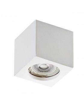 Porta Faretto Spot Cubico in Gesso Isyluce per Lampadine GU10