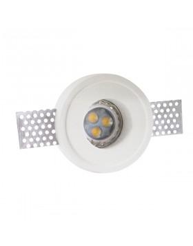 Faretto da Incasso in Gesso Rotondo 7 cm per Lampadine Led