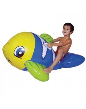 Pesciolone cavalcabile Gonfiabile Per bambino Pesce Gioco galleggiante 128x73 cm