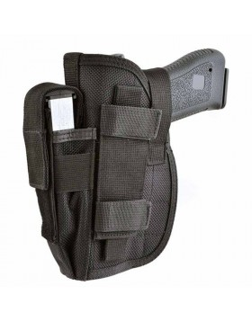 Fondina Cosciale Nera in Cordura Softair Swiss Arms