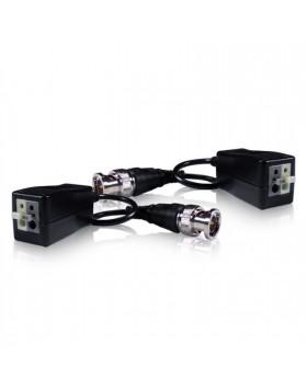 Coppia Video Balun Trasmettitori Passivi Cavo RJ45 Connettore BNC per DVR LIFE