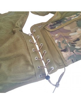Gilet Giubotto Corpetto Tattico Multicam Militare Vegetato per Softair