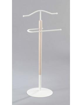 Servomuto Indossatore Acciaio Legno Bianco Stile Vintage Appendiabiti Abiti