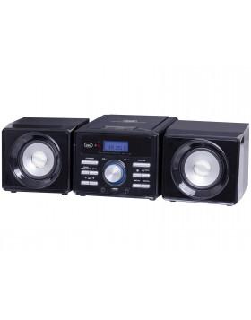 impianto stereo HI FI mini trevi HCX 1030 S nero altoparlanti integrati