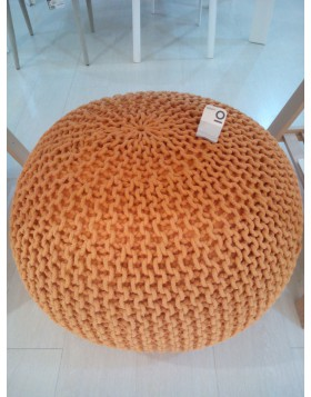 POUF POUFF POLTRONA DESIGN BIZZOTTO INTRECCIATO LIVING ARANCIO CM 80 NEW