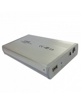 "BOX CASE ESTERNO 3.5"" POLLICI PER HARD DISK HDD HD USB IDE IN ALLUMINIO LINQ NEW"