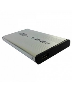 "BOX CASE ESTERNO 2.5"" POLLICI PER HARD DISK HDD HD USB SATA IN ALLUMINIO LINQ"