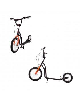 Monopattino K-Bike Senior Arancio Nero Ragazzi dai 12 Anni Mis. 131x62 cm