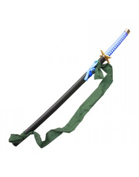 KATANA ORNAMENTALE SPADA GIAPPONESE ANIME MANGA ZANPAKUTO DI TOSHIRO HITSUGAYA 2ND VERSION BLEACH IN METALLO