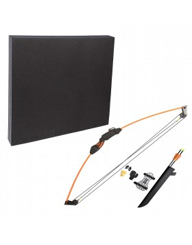 Kit con Bersaglio Arco Frecce Paradita Parabraccio Faretra Sport Tiro con l'arco
