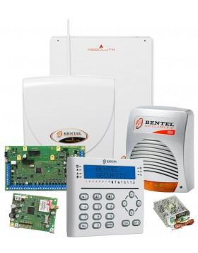 Kit Antifurto Filare 16 Zone Bentel centrale box antenna sirena alimentatore tastiera