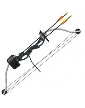 Kit Arco Compound 28 Libbre con Accessori Faretra Paradita 2 Frecce Mirino