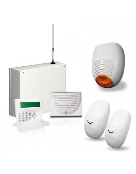 KIT ANTIFURTO ALLARME CASA COMBINATORE GSM CABLATO FILARE CELLULARE AMC C24GSM