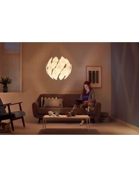Lampadario Lampada Sospensione Philips Chiffon Bianco Rotondo Moderno