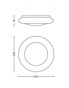 Lampada da Soffitto a Led Philips Cinnabar Bianco 25 cm 6W Luce Calda