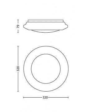 Lampada da Soffitto a Led Philips Cinnabar Bianco 32 cm 16W Luce Calda