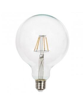 Lampadina Led Filamento E27 7,5W Globo G125 Luce Calda