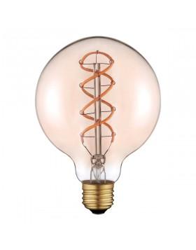 Lampada LED a Filamento 5W E27 G125 Luce Calda Soft Vintage Life
