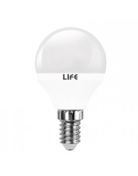 Lampada Lampadina E14 LED SMD LIFE 5W Minisfera P45 Luce Fredda 330 LUMEN