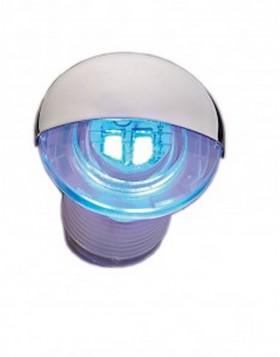 Luce di Cortesia Barca Giardino Blu Led 2x0,2W Plastica Alluminio 12 Vdc 4 Lm