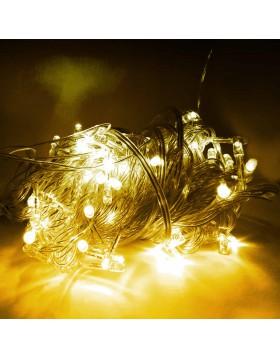 100 Mini Lucciole Luci di Natale per Presepe Albero Luce Calda Luminoso