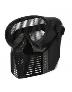 Maschera Soft Air Nera Protezione Totale Viso con Rete SOFTAIR JS-TACTICAL