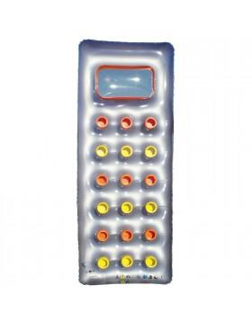 Materassino gonfiabile Galleggiante Con 18 buchi Silver Giallo Piscina 188x74 cm