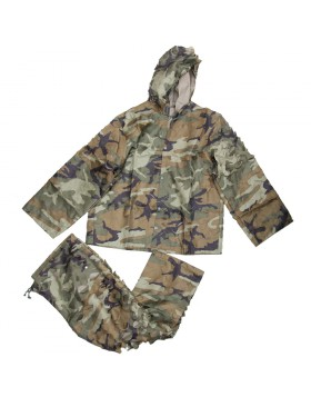 Uniforme Impermeabile Mimetica Woodland Ghillie Softair