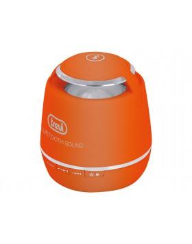 Mini altoparlante Trevi 6x6x7cm con bluetooth arancione lettore mp3 wma 0XP07109