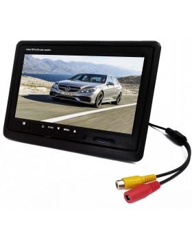 MONITOR LCD 7' POLLICI TFT CON TELECOMANDO PER AUTO MACCHINA CASA CAMPER TVCC