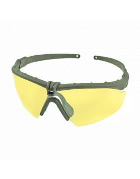 Occhiali di Protezione Tattici per Softair in Policarbonato Verdi Lenti Gialle