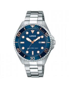 Orologio per Donna Lorus RJ233BX9 Blu Bracciale in Acciaio