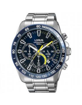 Orologio per Uomo Cronografo Lorus RT315FX9 Blu Bracciale in Acciaio