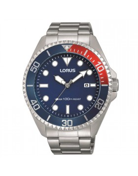 Orologio per Uomo Lorus RH941GX9 Blu Bracciale in Acciaio