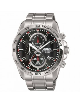 Orologio per Uomo Cronografo Lorus RM381CX9 Nero Bracciale in Acciaio