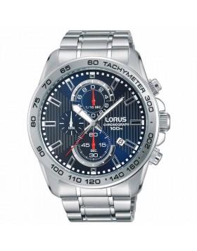 Orologio per Uomo Cronografo Lorus RM383CX9 Blu Bracciale in Acciaio