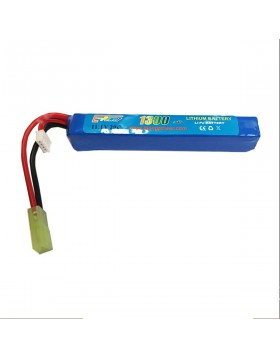 Pacco Batterie Batteria Lipo 1300 mAh 11.1V Softair