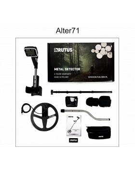Rutus Alter 71 Metal Detector Professionale Versione 2.0 DD 28cm Multi Frequenza