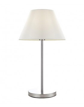 Lampada Moderna da Tavolo Salotto Paralume Tessuto Bianco con Cavo Trasparente