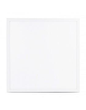 Pannello Led Luminoso Quadrato Bianco Alluminio Luce Naturale 4000 K 40 W 4000Lm