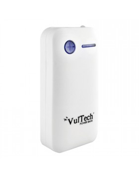 BATTERIA ESTERNA POWER BANK 5200 MAH CARICABATTERIA USB X TABLET VULTECH BIANCO
