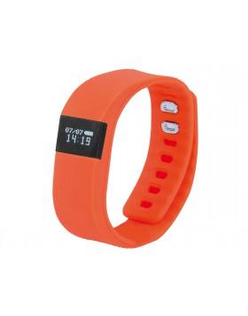 Orologio da fitness Sport Arancione Pedometro Calorie con Sveglia Data e Ora