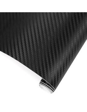 Pellicola in Carbonio Adesiva 3D Foglio 127x250 cm Nero Antigraffio