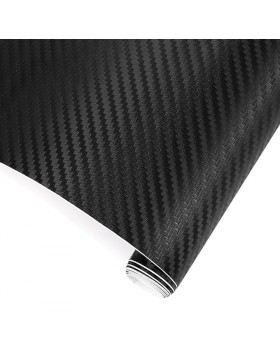 Pellicola in Carbonio Adesiva 3D Foglio 102x200 cm Nero Antigraffio