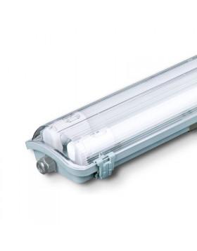 Plafoniera Esterna 2 Tubi Neon non dimmerabile 30000 ore Luce Naturale V-tac