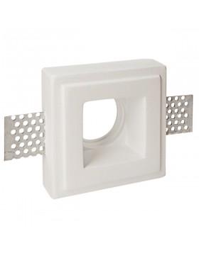Porta Faretto da Incasso in Gesso Quadrato 7 cm per Lampadina GU10