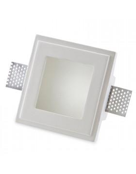 Porta Faretto Gesso a Scomparsa ad Incasso con Vetro LED GU10 ISYLUCE 805 12 Cm