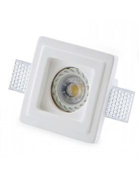 Porta Faretto Gesso a Scomparsa ad Incasso Lampadine LED GU10 ISYLUCE 801 10 Cm