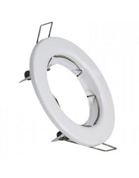 Porta faretto Supporto Fisso Bianco Lampade GU10 MR16 Led V-TAC VT-779RD