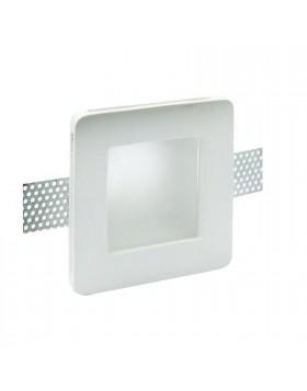 Supporto da incasso con schermo in vetro per lampade a led GU10 IP20 bianco Life